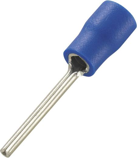 Conrad Components 93014c574 Stiftkabelschoen 1.5 mm² 2.5 mm² Deels geïsoleerd Blauw 100 stuks