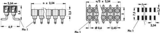 Precisie female connectoren in SMD-techniek 2,54 mm, haaks serie MK...