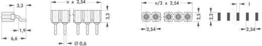 Female connector (precisie) Aantal rijen: 1 Aantal polen per rij: 20 Fischer Elektronik MK 24 SMD/ 20 1 stuks