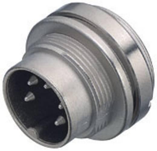 Ronde miniatuur-stekker serie 581 en 680 Flensstekker Binder 09-0311-00-04 IP40 Aantal polen: 4