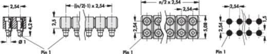 Female connector (precisie) Aantal rijen: 2 Aantal polen per rij: 20 Fischer Elektronik MK 220 SMD/ 40 1 stuks
