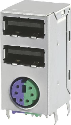 Dual USB 2.0 met mini-DIN bus, afgeschermd 2 x USB 2.0-bus en 1 x mini-DIN-bus Bus, inbouw 1 stuks