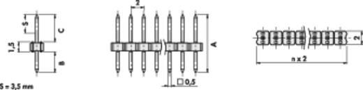 Male header (standaard) Aantal rijen: 1 Aantal polen per rij: 50 Fischer Elektronik SLY 1/104/ 50/G 1 stuks
