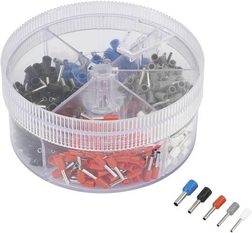 Conrad Components 93014c619 Adereindhuls assortiment 0.5 mm² 2.5 mm² Wit, Grijs, Rood, Zwart, Blauw 400 stuks