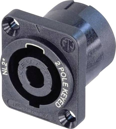 Neutrik NL2MP Luidsprekerconnector Flensbus, contacten recht Aantal polen: 2 Zwart 1 stuks