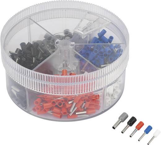 Conrad Components 739872 Adereindhuls assortiment 0.5 mm² 2.5 mm² Wit, Blauw, Rood, Zwart, Grijs 400 stuks
