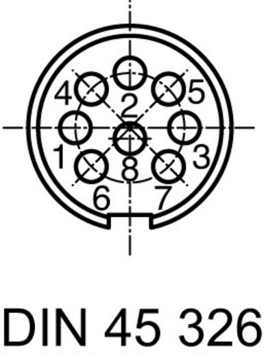 Ronde stekkerconnector Aantal polen: 8 DIN Kabelstekker 5 A C091 31H008 100 2 Amphenol 1 stuks