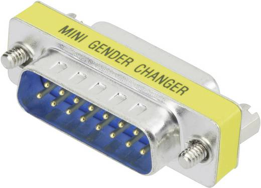 Digitus Serieel Adapter [1x D-sub stekker 15-polig - 1x D-sub stekker 15-polig] Geel