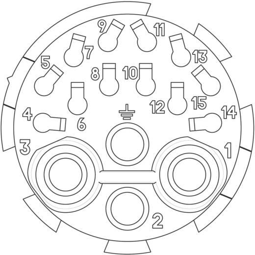 Kabeldoos, recht C16-3 Aantal polen: 12 + 3 + PE 4 x 12 A, 12 x 6 A C016 10E015 002 1 Amphenol 1 stuks