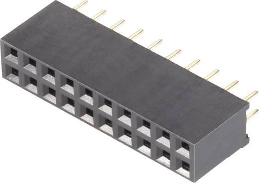 Female header (standaard) Aantal rijen: 2 Aantal polen per rij: 10 BKL Electronic 10120229 1 stuks