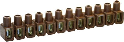 Kaiser 610/br Lasklem Flexibel: 4-10 mm² Massief: 4-10 mm² Aantal polen: 12 1 stuks Bruin