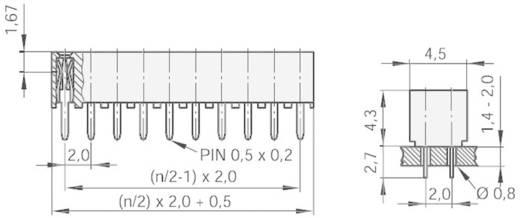 Female connector (standaard) Aantal rijen: 2 Aantal polen per rij: 10 MPE Garry 156-3-020-0-NFX-YS0 1 stuks