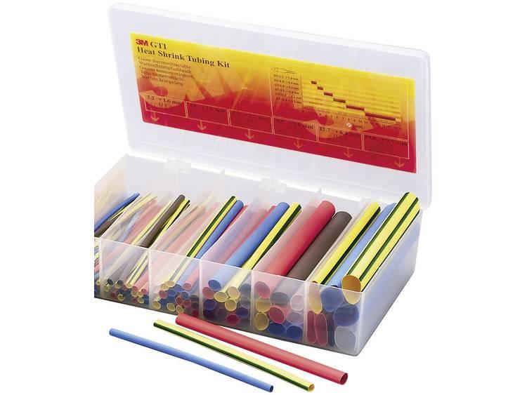 Krimpkous-GTI-box Ø voor-na krimpen:-Krimpverhouding 2:1 1 pack Rood, Blauw, Bruin, Transparant, Gro
