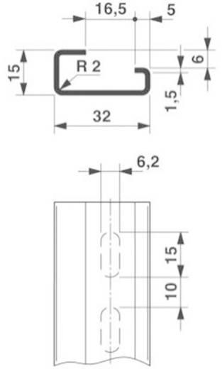 Phoenix Contact NS 32 gelocht 2000MM G-profiel draagrail Geschikt voor: Draagrailmontage 2 m
