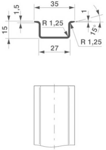 Phoenix Contact NS 35/15 CU ungelocht 2000MM DIN-draagrail Geschikt voor: Draagrailmontage 2 m