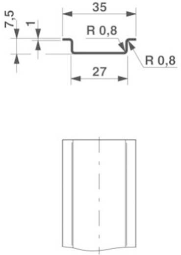 Phoenix Contact NS 35/ 7,5 ZN ungelocht 2000MM DIN-draagrail Geschikt voor: Draagrailmontage 2 m
