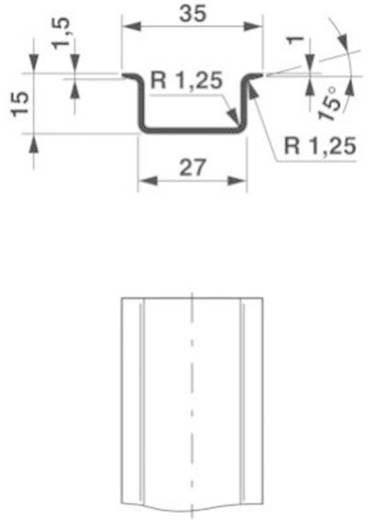 Phoenix Contact NS 35/15 ZN ungelocht 2000MM DIN-draagrail Geschikt voor: Draagrailmontage 2 m
