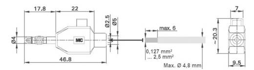 Pluimstekker Stekker, recht Stäubli KLS4 Stift-Ø: 4 mm