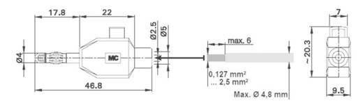 Stäubli KLS4 ROT Pluimstekker Stekker, recht Stift-Ø: 4 mm Rood 1 stuks
