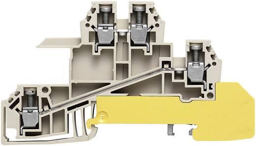 Weidmüller WDL 2.5/S/L/L/PE Verdeelaansluitblokken WDL 2.5 S voor de 10 x 3 mm verzamelrail Grijs, Groen-geel 1 stuks
