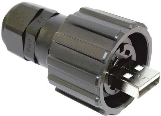 Conec 17-200121 USB 2.0 stekkerset - IP67 Bajonetsluiting Stekker, recht 1 stuks
