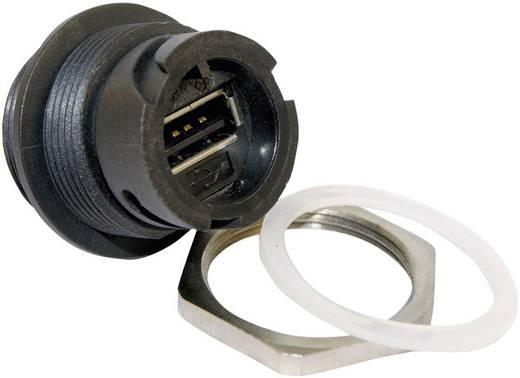 Conec 17-200161 Set USB 2.0 inbouwbehuizing Bajonetsluiting met beschermdop Bus, inbouw 1 stuks