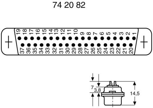 D-SUB bus connector 180 ° Aantal polen: 37 Soldeerkelk 1 stuks