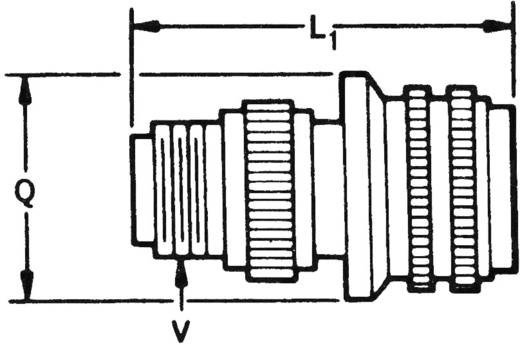 Kabelstekker DMS 3106A Aantal polen: 4 13 A 3106A 14S 2P/C Fujikura 1 stuks