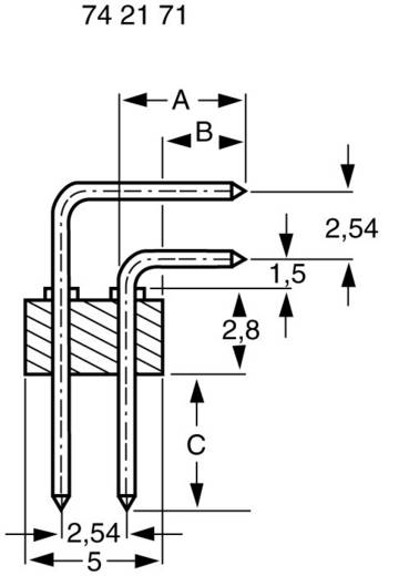 Male header (standaard) Aantal rijen: 2 Aantal polen per rij: 8 BKL Electronic 10120530 1 stuks