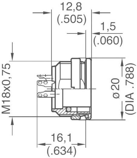 Ronde stekkerconnector C091/D Aantal polen: 7 DIN Apparaatdoos 5 A C091 31N107 1002 Amphenol 1 stuks