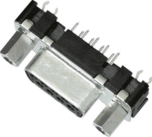 Harting 09 66 155 6511 D-SUB bus connector 180 ° Aantal polen: 9 Solderen 1 stuks