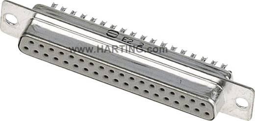 Harting 09 67 037 4715 D-SUB bus connector 180 ° Aantal polen: 37 Soldeerkelk 1 stuks