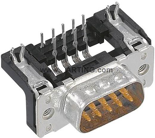 Harting 09 66 162 6811 D-SUB male connector 90 ° Aantal polen: 9 Solderen 1 stuks