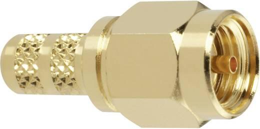 Amphenol RSMA1111A2-3GT50G-5-50 SMA-Reverse-connector Stekker, recht 50 Ω 1 stuks