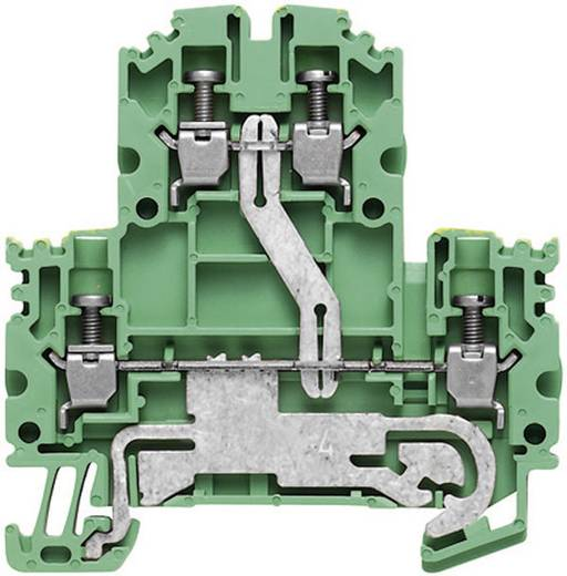 2-rijige veiligheidsgeleider-aansluitblokken - WDK WDK 2.5N PE 1041620000 Groen-geel Weidmüller 1 stuks