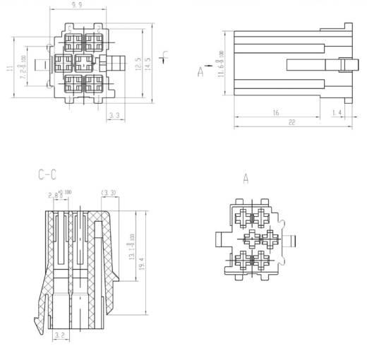 Mini ISO stekker AIV Gelb