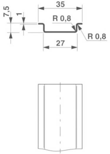 DIN-draagrails NS 35/ 7,5 non perforée 2000MM Phoenix Contact