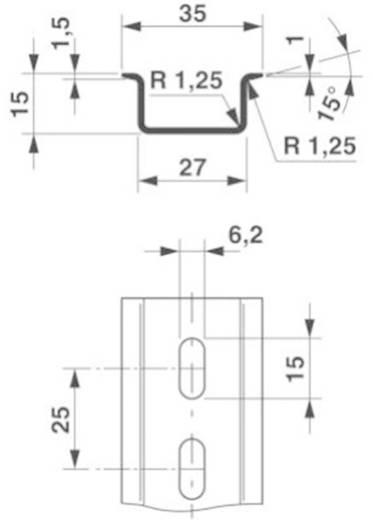 Phoenix Contact NS 35/15 geperforeerd 2000mm DIN-draagrails Geschikt voor: Draagrailmontage 2 m