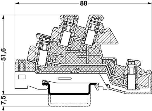 Phoenix Contact PIK 6-PE/L/N 3-laags installatieklem Grijs Inhoud: 1 stuks