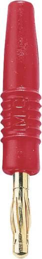 MultiContact SLS410-L Lamellenstekker Stekker, recht Stift-Ø: 4 mm Rood 1 stuks