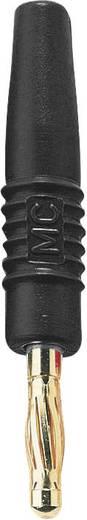 MultiContact SLS410-L Lamellenstekker Stekker, recht Stift-Ø: 4 mm Zwart 1 stuks