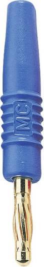 MultiContact SLS410-L Lamellenstekker Stekker, recht Stift-Ø: 4 mm Blauw 1 stuks