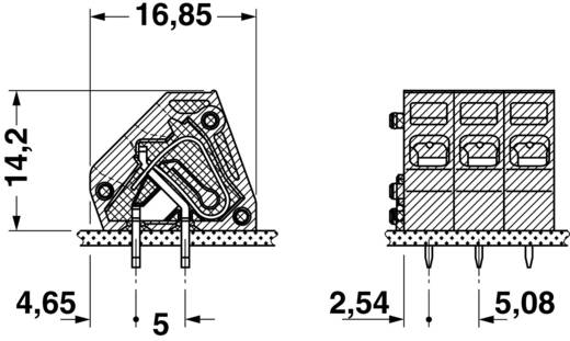 Veerkachtklemblok 2.50 mm² Aantal polen 1 ZFKDSA 2,5-6,08 R Phoenix Contact Groen 1 stuks