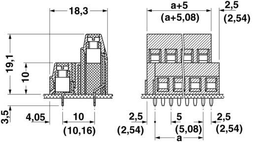 Dubbeldeksklem 1.50 mm² Aantal polen 4 MKKDSN 1,5/ 2 Phoenix Contact Groen 1 stuks