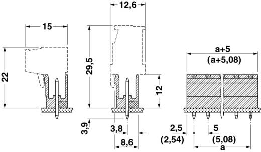 Penbehuizing-board Totaal aantal polen 3 Phoenix Contact 17