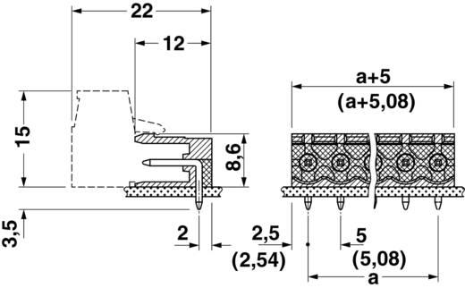 Phoenix Contact 1754436 Penbehuizing-board MSTB Totaal aantal polen 2 Rastermaat: 5 mm 1 stuks