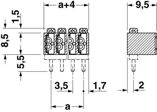 Veerkachtklemblok Aantal polen 4 FK-MPT 0,5/ 4-ST-3,5 Phoenix Contact Groen 1 stuks