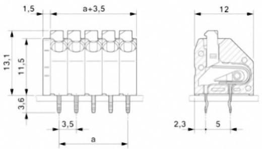 Veerkachtklemblok 1.50 mm² Aantal polen 10 PTSA 1,5/10-3,5-Z Phoenix Contact Groen 1 stuks