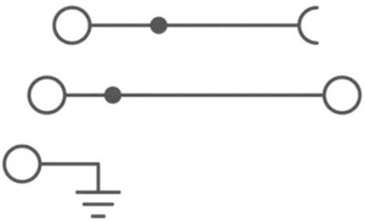 Phoenix Contact STI 2,5-L/L Drielaags installatieklem Grijs Inhoud: 1 stuks