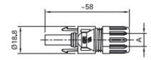 Stäubli Fiche femelle photovoltaïque PV-KBT4/2,51-UR MC Fotovoltaische-bus PV-KBT4/2,5 Inhoud: 1 stuks
